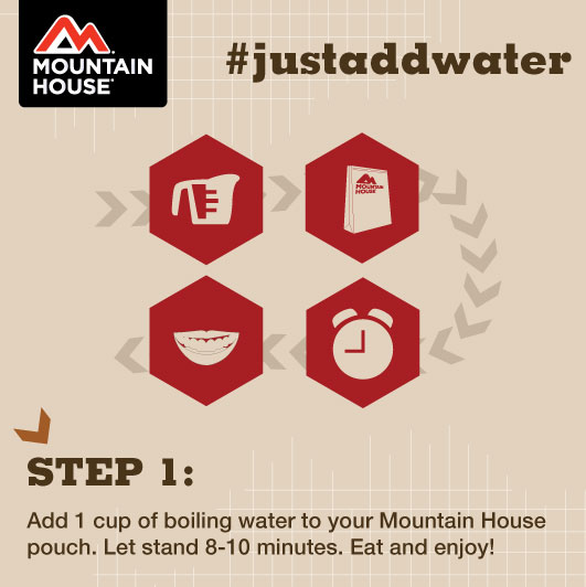 Mountain House #justaddwater simple