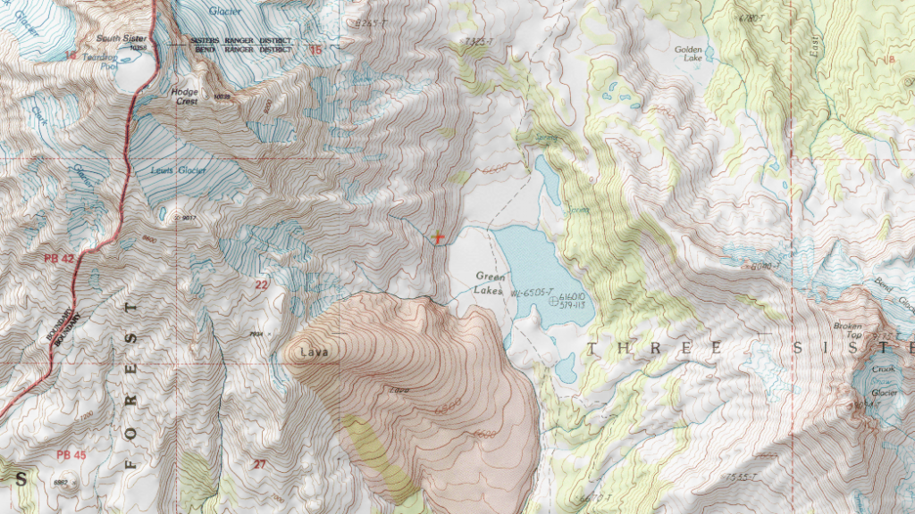 Topographical Map Used for Navigation