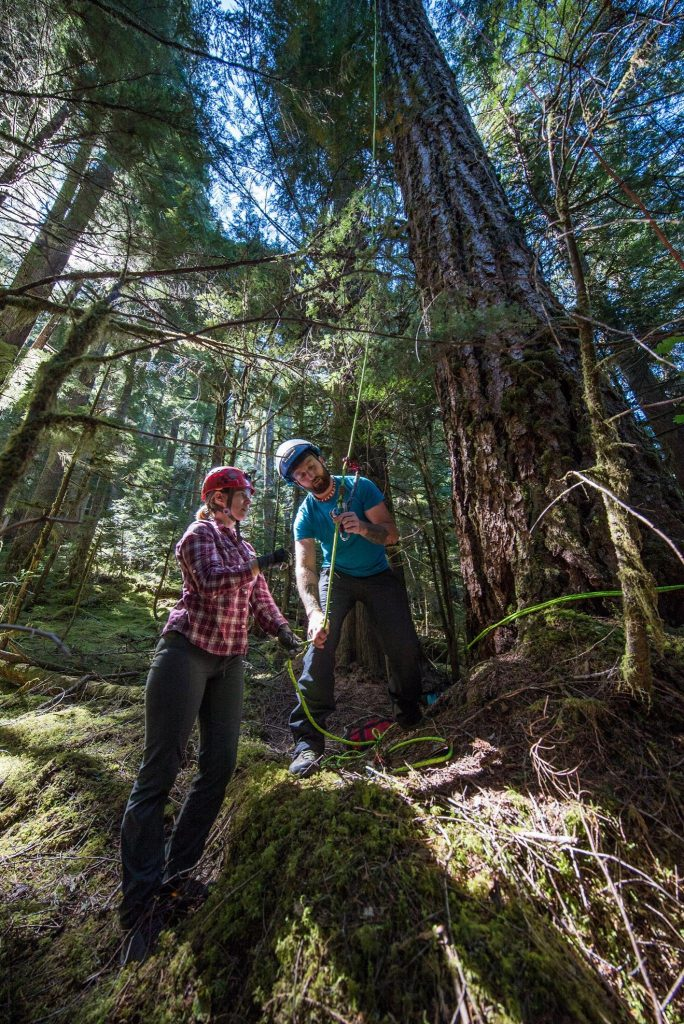 Gear and safety check with Damien Carré of Expedition Old Growth.