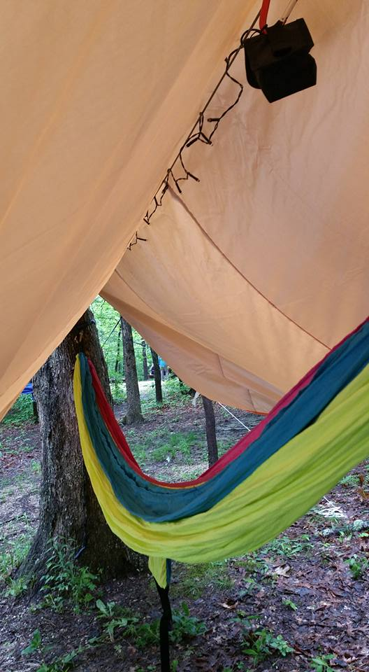 Leah P. showing us how post-exploration relaxation should look from her campsite at Coon Creek, IL. Hammocks and canopies will make you feel transported to a forested world apart from our own. Not a bad way to end the day! Read her campsite review here.