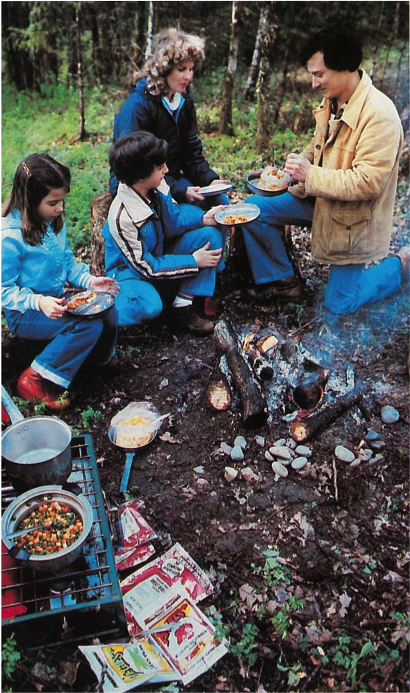 Not only did Norm Jager formulate many of Mountain House's famous meals, he also provided his looks for a magazine shoot.