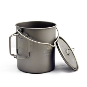 Toaks Titanium pot with lid