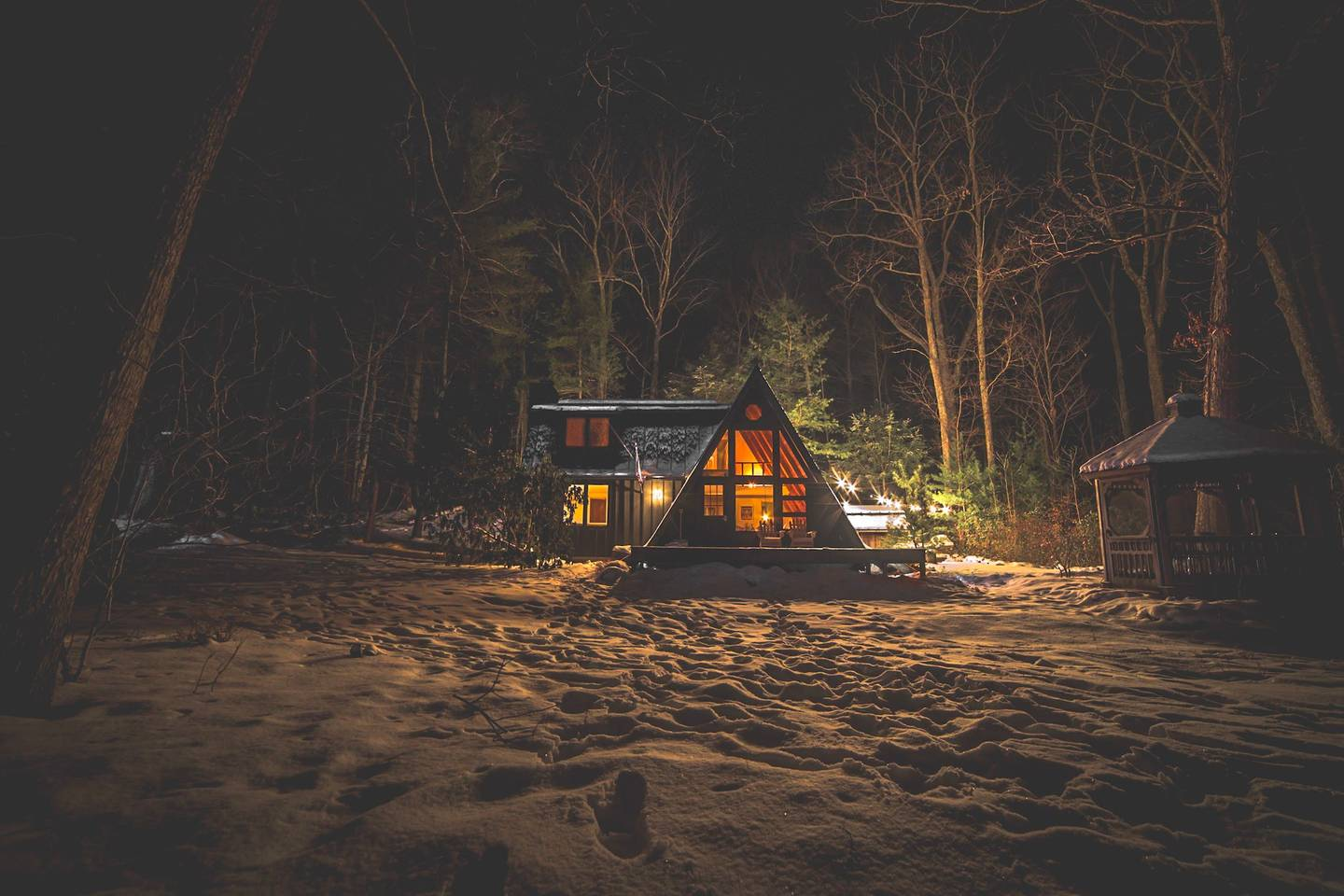 A Frame Cabins Are A Winter Camping Dream Come True