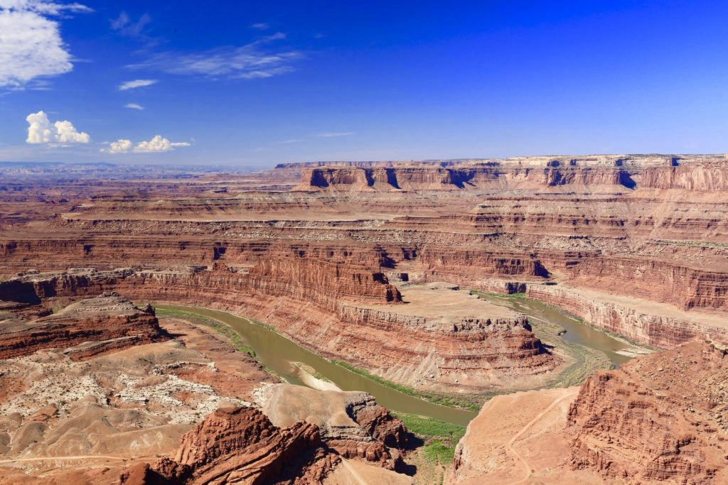 Dead Horse Point State Park river canyon in Utah.